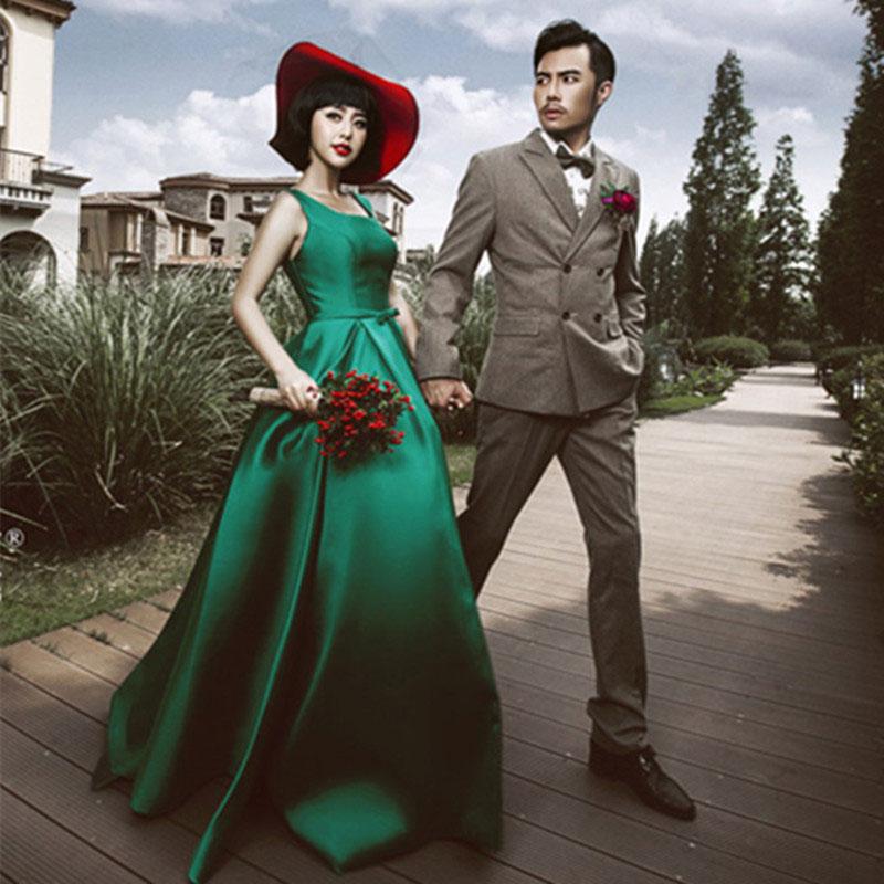 Ночь платья 2017 элегантный новый корейский моды тонкий слово плечо праздник может господь держать длинная модель уважение ликер одежда ночь женщины одеваются